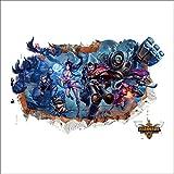 JUNMAONO 3D League of Legends Wandaufkleber/Wandbild Aufkleber/Wand Poster/Wandgemälde (-1)