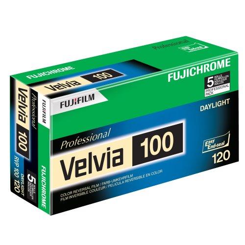 Fujifilm 16326107 Velvia 100 Dia-Farbfilm 120 (5er Pack) -