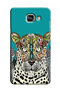 Omnam Art Effect On Tiger Face Printed Designer Back Cover Case For Sumsang Galaxy A5 2016 (A510)