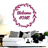 Adesivi murali in vinile decorativo Benvenuti a casa murale per soggiorno Art Poster Adesivo per la casa K 57 * 57 cm