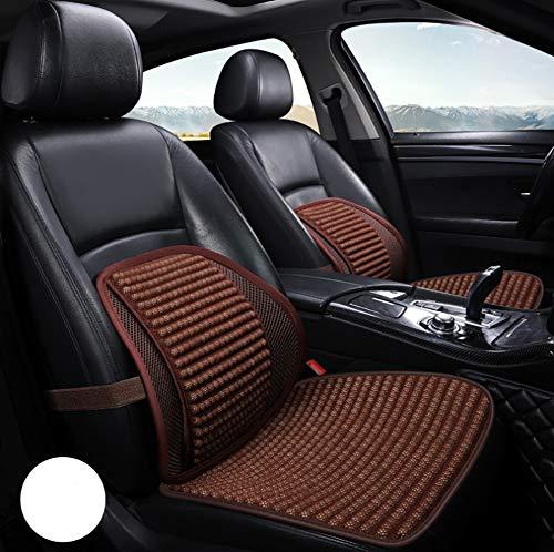 Bmdha coprisedili per auto estivi antisudore cuscino tutto naturale perline di legno sweatproof confortevole - alleviare l'affaticamento della guida,brown