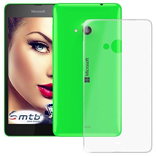mtb more energy® Schutz-Hülle Clear & Slim für Microsoft Lumia 535 (5.0'') | transparent | flexibel | TPU Silikon Case Cover Tasche