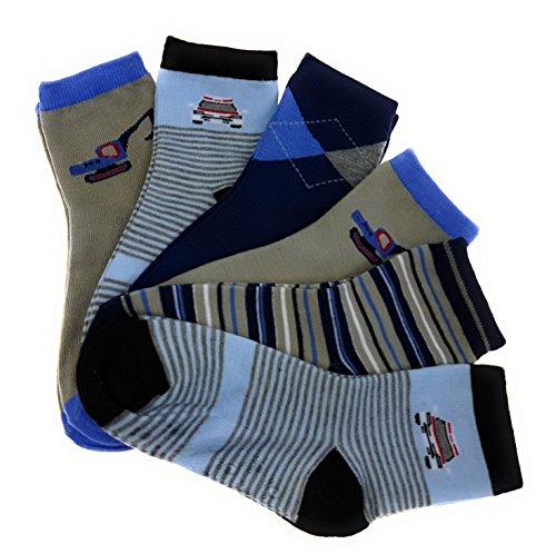 6 Paar original STOP ON! Kids Jungen Stoppersocken Kinder Socken ABS Strümpfe Baby Söckchen mit Anti Rutsch Sohle 95{ad60e79e046dfebe9cf2cb7bcd4e5e431bba0cca36eb619617e5a1c7481becca} Baumwolle Bunter Mix (21-25, J013)