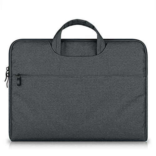 GADIEMENSS Waterproof Laptop Sleeve Case Bag with Handle Portable Computer Handbag For Apple Macbook Air Pro Chromebook and other Notebook 11.6 inches Deep Gray