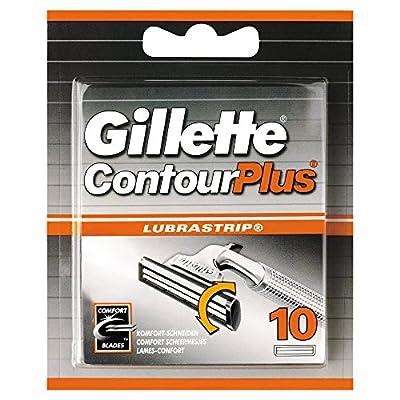 Gillette Contour Plus Men's Razor Blades, 10 Refills