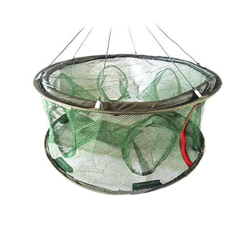 Lynn025Keats Gefaltete Fischnetz-Ineinander greifen Fisch Korb Shrimp Elritze Hummer Crab Trap Cages -