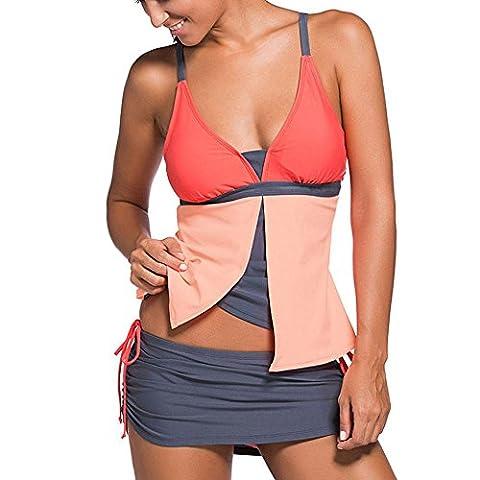 Maillot De Bain Maillot De Bain Divan Femme Loisirs Plage Vacances Natation Exercice Bikini Maillot De Bain En Gros Taille , orange , xxl