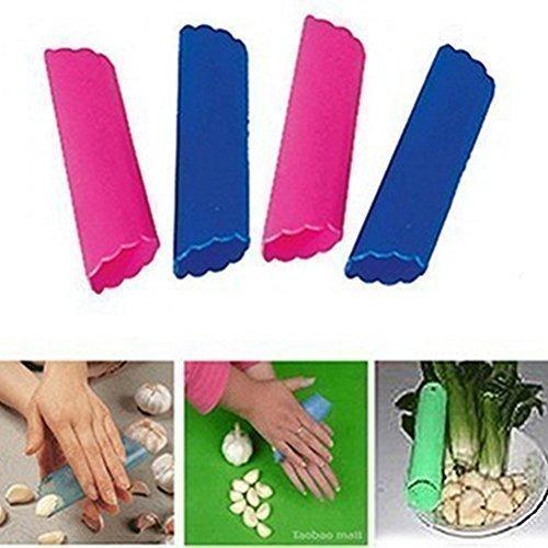 Líder en-Star fácil de utensilios de cocina nueva Magia de silicona pelador de ajos de sobres con