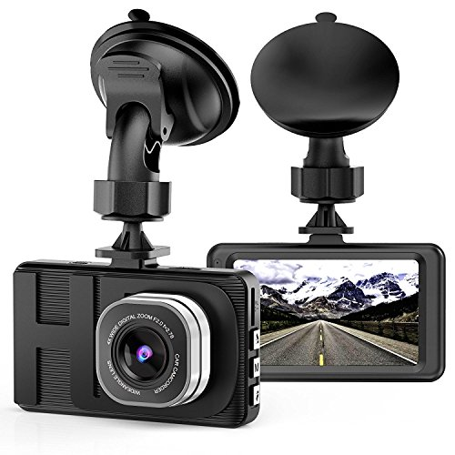"""LILIKU Cámara de Coche 1080P HD Camara para coche 170°Amplio Ángulo Dash Cam 3.0"""" LCD WDR G-Sensor Grabación en Bucle y Detección de Movimiento"""