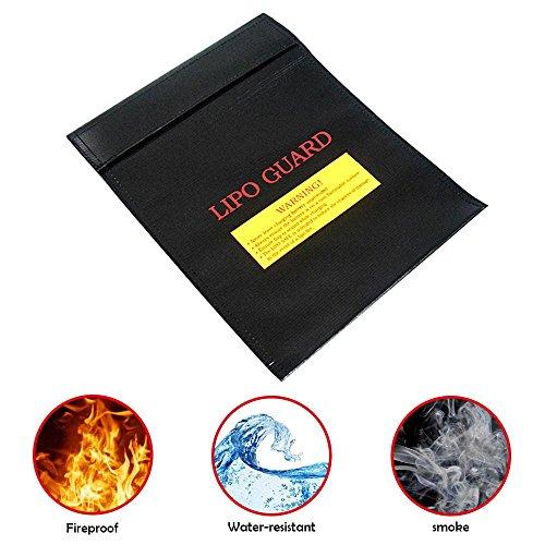 kumententasche, Feuerfeste Wasserresistente Tasche für Bargeld, Pässe, Karten, Wertsachen, Schmuck und Batterien Schutz (18 * 23cm) ()