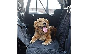 Katze-Tatze Cubierta de Asiento Impermeable para Perro Funda Coche Mascotas Protector de Asiento para Perros Oxford Anti-Deslizante Coche de Cinturón de Seguridad para Viajes, 147 X 137 CM