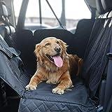 Hundedecke Auto für Rückbank Autoschondecke Wasserdicht Waschbar Rutschfest Universal Größe mit Seitenklappen Sicherheitsgurt Für Autos Trucks Van und SUV