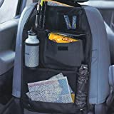 2-pack enfants universel de voiture Siège arrière Rangement à suspendre Cintre Multi Poche de voyage Sac de rangement organiseur exercice pour voiture, SUV, Auto et accessoires de siège de sécurité pour enfant Noir