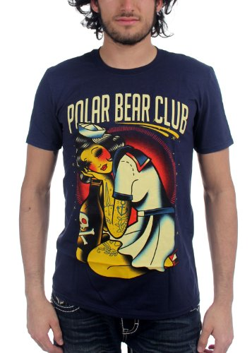 Polar Bear Club - - Herren Sailor Girl T-Shirt, Small, Black (Club-shirt Polar Bear)