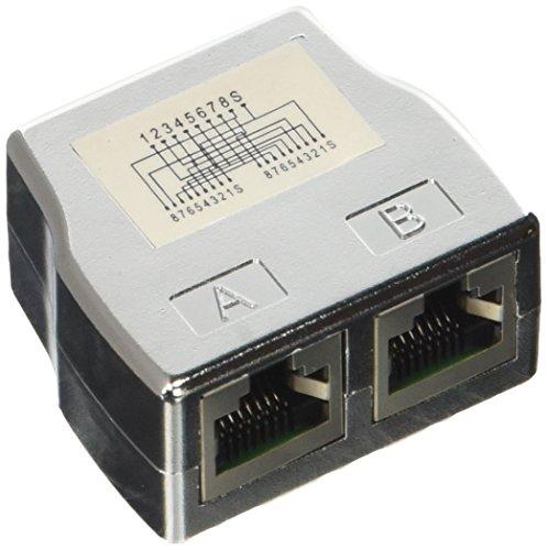 Modulare Elektronik (DIGITUS Professional CAT 5e Klasse D Modular-Kupplung, geschirmt, 2x RJ45 zu 1x RJ45, Dreifach-Kupplung, silber)