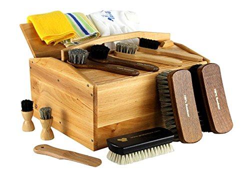 protectore protectore Schuhputzkiste GO M 14-teilig (mit Inhalt, gefüllt) - Schuhputz Set