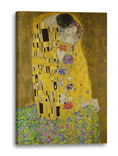Gustav Klimt - Der Kuss (1907-1908), 40 x 60 cm (weitere Größen verfügbar), Leinwand auf...
