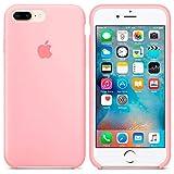 Generica - Funda de Silicona Suave con Logo para Apple iPhone 7 Plus / 8 Plus Rosa