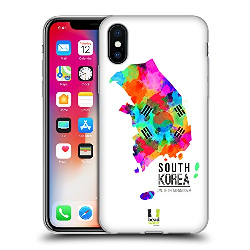 Head Case Designs Land Down Under Australien Aquarell Karten Soft Gel Hülle für Apple iPhone 6 Plus / 6s Plus Land Of The Morning Calm Südkorea