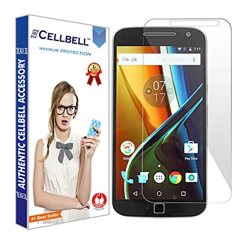 CELLBELL Tempered Glass with Installation Kit for Moto G4 Plus
