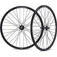 Unisex Black Adult Miche Pair of 24//32T Pistard Tyre Silver Aluminium Wheel Rims
