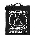 Chorchester Hochwertiger Jutebeutel (mit langen Henkeln) - Für den weltbesten Triangel Spieler!