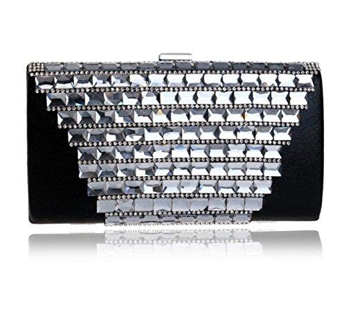 Sac à Bandoulière Portable Pour Dames Europe Et États-Unis Ensemble Banquet à La Mode Forfait Fashion Wild KTV Clutch Black