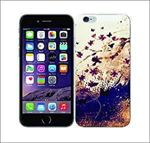 Purple Dew Drops 1998 Floral Drips Cherry Blossom Hard Cover for Apple iphone 6s