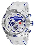 Invicta 26551 Star Wars - R2-D2 Reloj para Hombre acero inoxidable Cuarzo Esfera blanco