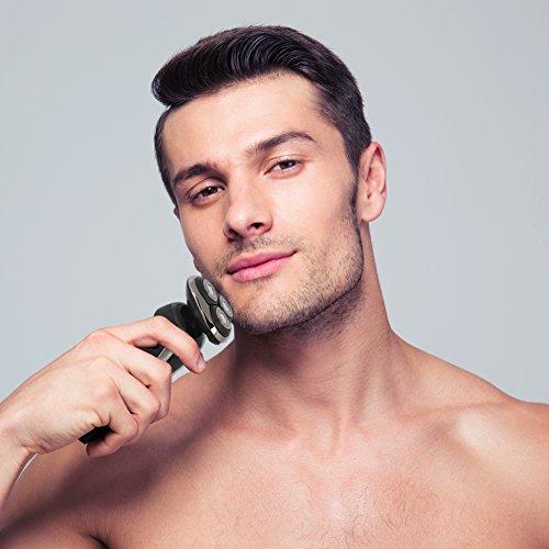 SURKER 3 en 1 máquina de afeitar barba recortadora afeitadoras eléctricas Multifunción y Tres cabezas Giratoria Cargador USB Mejor regalo para novio y marido
