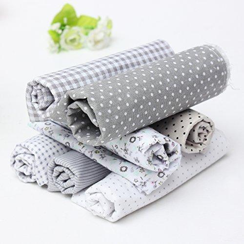 king-do-way-7pz-diy-tessuti-stampato-cotone-per-cucire-stoffa-per-patchwork-floreale-grigio-45cmx45c