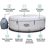 Lay-Z-Spa Paris Hot Tub with LED Lights, AirJet Inflatable Spa, 4-6 Person