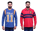 Fila Men'S T-Shirts(Combo Of 2) (Large)