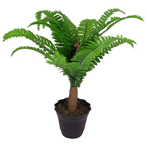 Kunstpflanze Künstlicher Farn Palme Dekopalme Kunstpflanze mit Topf 0,5m