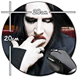 Marilyn Manson A Tapis De Souris Ronde Round Mousepad PC