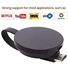 ATETION WiFi Wireless Display Dongle TV Adapter Receiver Supporto 1080p Full HD Google Chromecast per Miracast Airplay DLNA TV Stick per Android / Mac / iOS