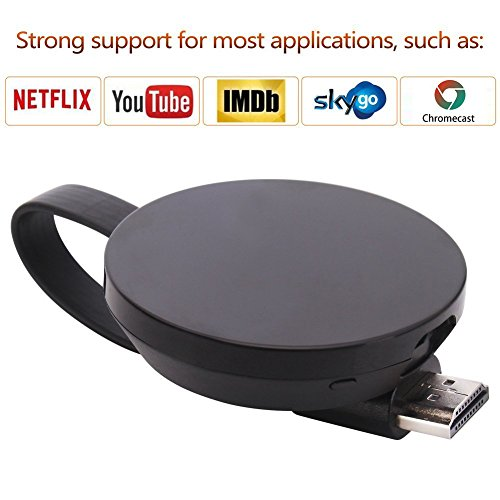 ATETION Wireless WiFi Display Dongle TV Empfänger Adapter 1080P Full HD Unterstützung Chromecast für Miracast Airplay DLNA TV Stick für Android/Mac/IOS (Chrome Tv-stick)