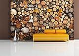 Fototapete Firewood - weitere Größen und Materialien wählbar - DEUTSCHE PROFI QUALITÄT von Trendwände