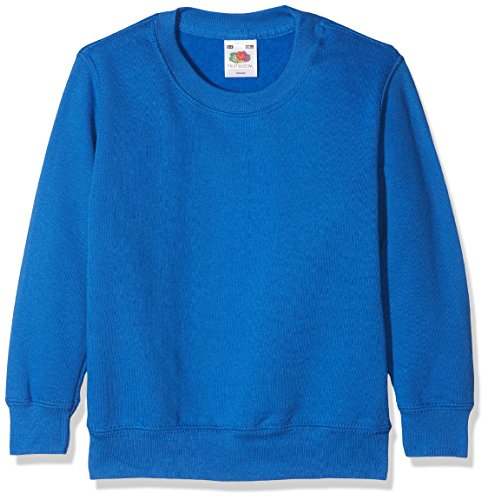 Fruit of the Loom Jungen Sweatshirt Classic Set-In Sweat Kids Blau (Royal Blue 300) 164 (Herstellergröße: 14-15) Fruit Of The Loom Classic Sweatshirt