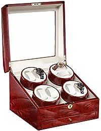 Caja para relojes Watch Winder enrollador de reloj automático 8+0 ,4 modos del temporizador, motor silencioso de Mabuchi ,calidad 100% ?Persona especial de alto grado ww-02681 , Red