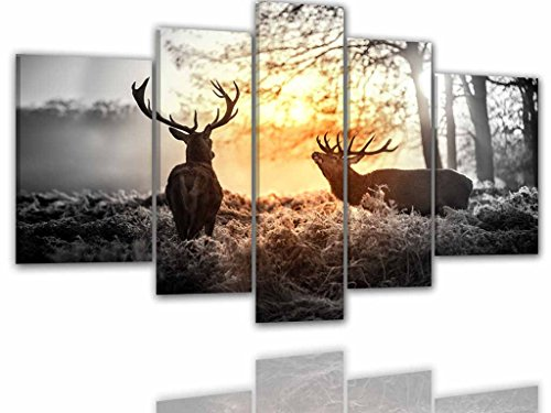 bilder-manufaktur-leinwandbilder-kunstdruck-wandbild-bild-bilder-8065-farbe-2-200x100-cm-xxl-hirsch-