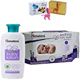 Himalaya Herbals Baby Lotion (100ml)+Himalaya Herbals Soothing Baby Wipes (72 Sheets) With Happy Baby Luxurious Kids Soap With Toy (100gm)