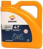 REPSOL - 9990510531 : Aceite moto sintetico 4T 10W40 4L 4 Litros