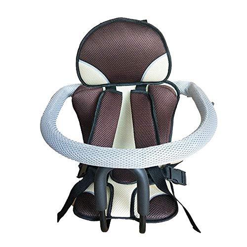 DKZK Fahrrad Kindersitz, Schnellverschluss Vorne Kindersitz Kindersattel Elektrische Fahrrad Voll Sicherheit Sitz Kann 80 KG, Geeignet FüR Kinder Im Alter Von 8-6