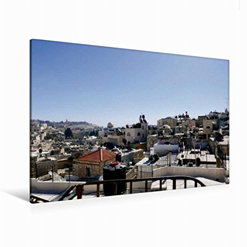 Leinwand Blick auf den Oelberg 120x80cm, Special-Edition Wandbild, Bild auf Keilrahmen, Fertigbild auf hochwertigem Textil, Leinwanddruck, kein Poster