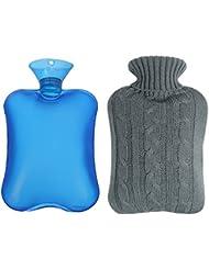 Shiney Premium Rubber para calambres y alivio del dolor con 2 cubiertas de punto Rápido alivio del dolor y comodidad, tapa de la botella de punto, 2 litros