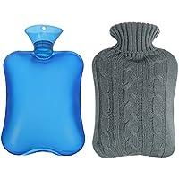 Shiney Wärmflasche Klassische Gummi Transparente 2 Liter mit Strickdecke preisvergleich bei billige-tabletten.eu