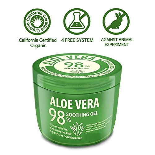 Nature's Secret Lab, [500ml] 98% Gel Aloe Vera Pressato A Freddo Biologico - Soluzione Per La Pelle, Per Acne, Scottatura, Punture Di Insetto, Eruzioni Cutanee, Eczema, Prurito, Tagli - Made In Corea