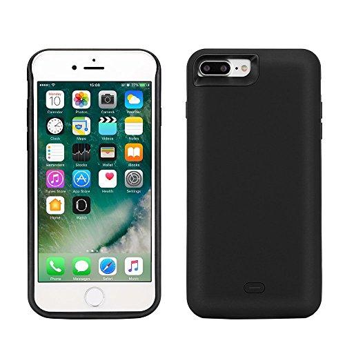 "Funda Batería iphone 7 Plus, Lenuo Funda Protectora Cargador con Batería 7500mAh Carcasa Protectora Recargable para iPhone 7 Plus 5.5"", Color Negro"