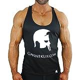 GANNIKUS® Classic Stringer / schwarz / 100% Baumwolle / der erste offizielle Gannikus.com Stringer